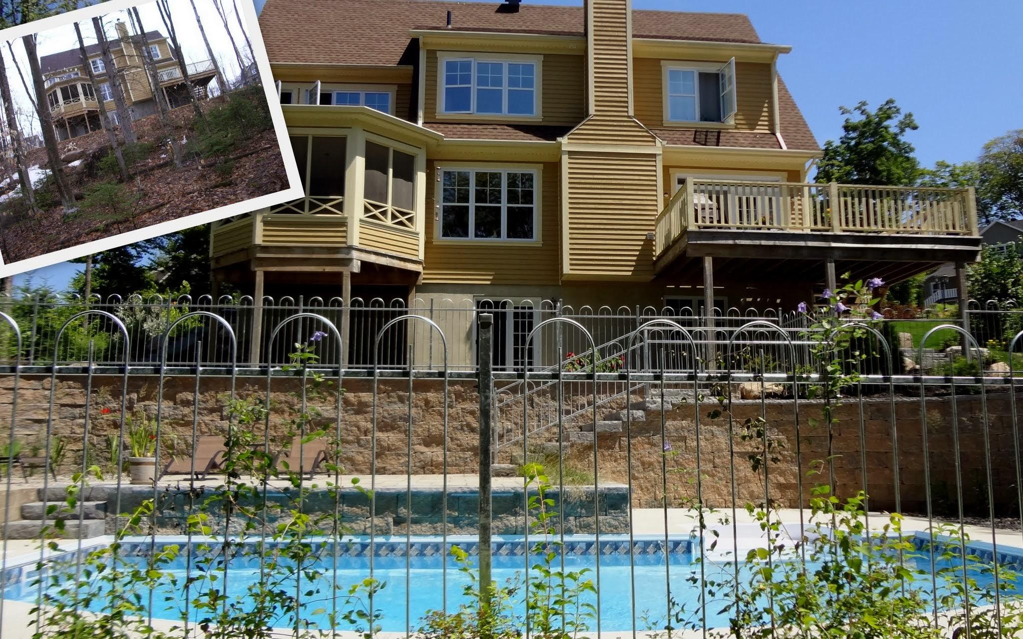 R alisation d am nagement paysager - Devis piscine creusee ...