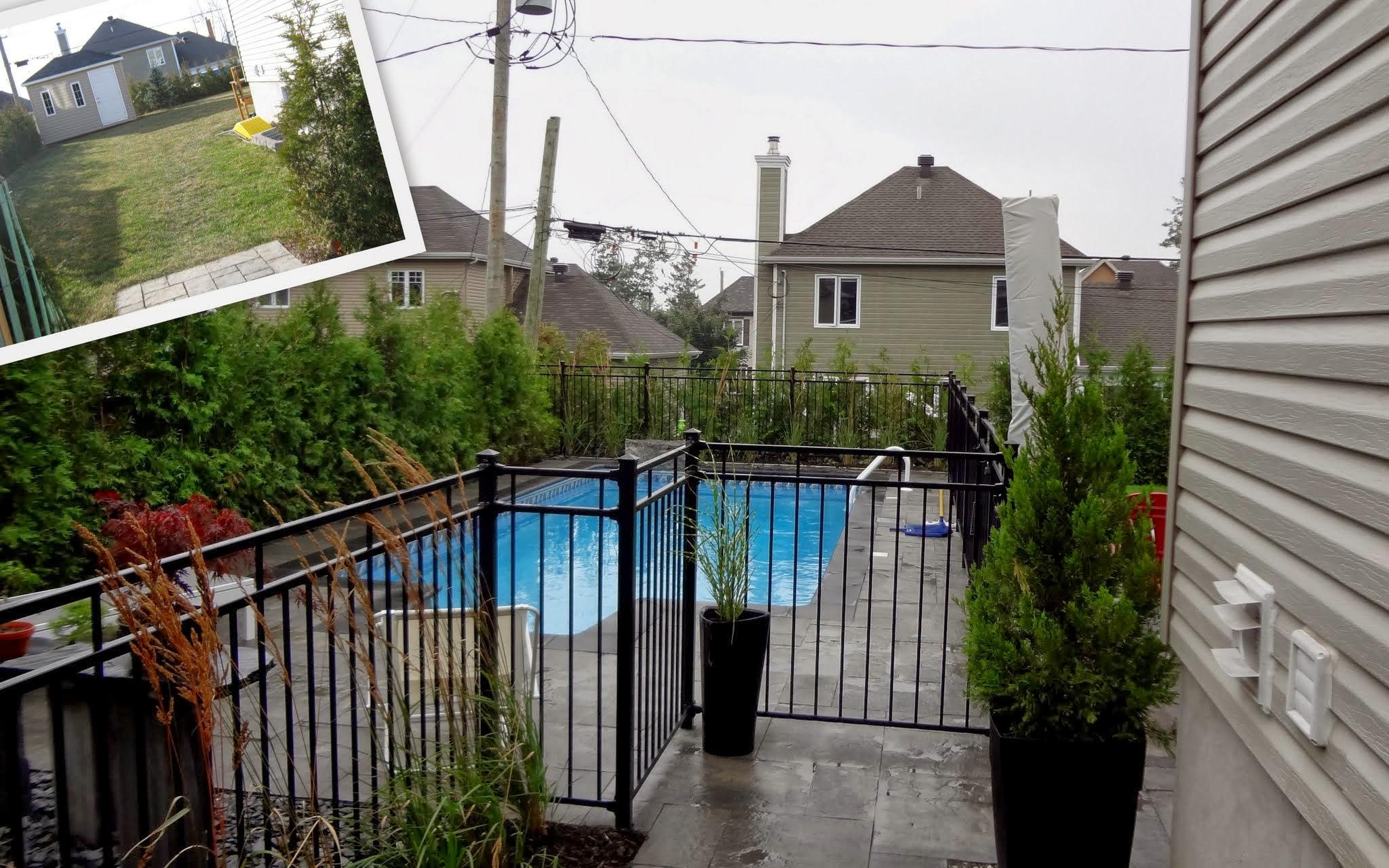 R alisation d am nagement paysager for Amenagement d une piscine