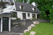 Escalier de prestige en granite noir